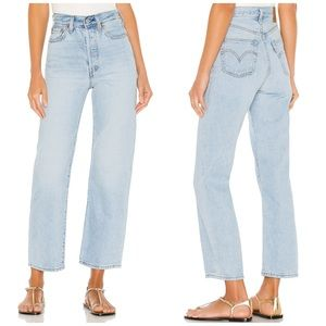 NEW Levi's Ribcage Straight Ankle Cropped Mom Jean